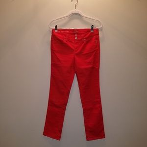 Ann Taylor LOFT Orange Corduroy Pants